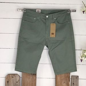Levi's 511 Slim Shorts NWT Men's Sage Green Denim